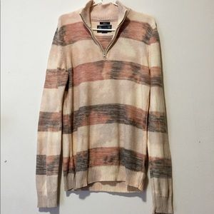 Sweater zip up men's size small cotton